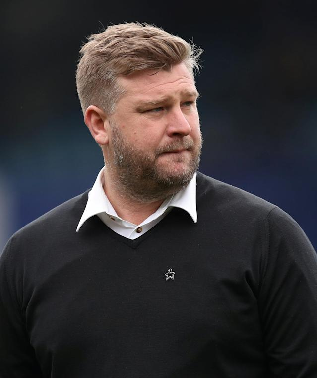 "Soccer Football - League One - Portsmouth vs Oxford United - Fratton Park, Portsmouth, Britain - March 25, 2018 Oxford United manager Karl Robinson before the match Action Images/Peter Cziborra EDITORIAL USE ONLY. No use with unauthorized audio, video, data, fixture lists, club/league logos or ""live"" services. Online in-match use limited to 75 images, no video emulation. No use in betting, games or single club/league/player publications. Please contact your account representative for further details."