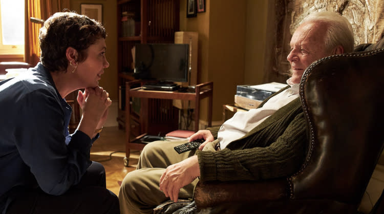 Olivia Colman y Anthony Hopkins en 'El padre'.