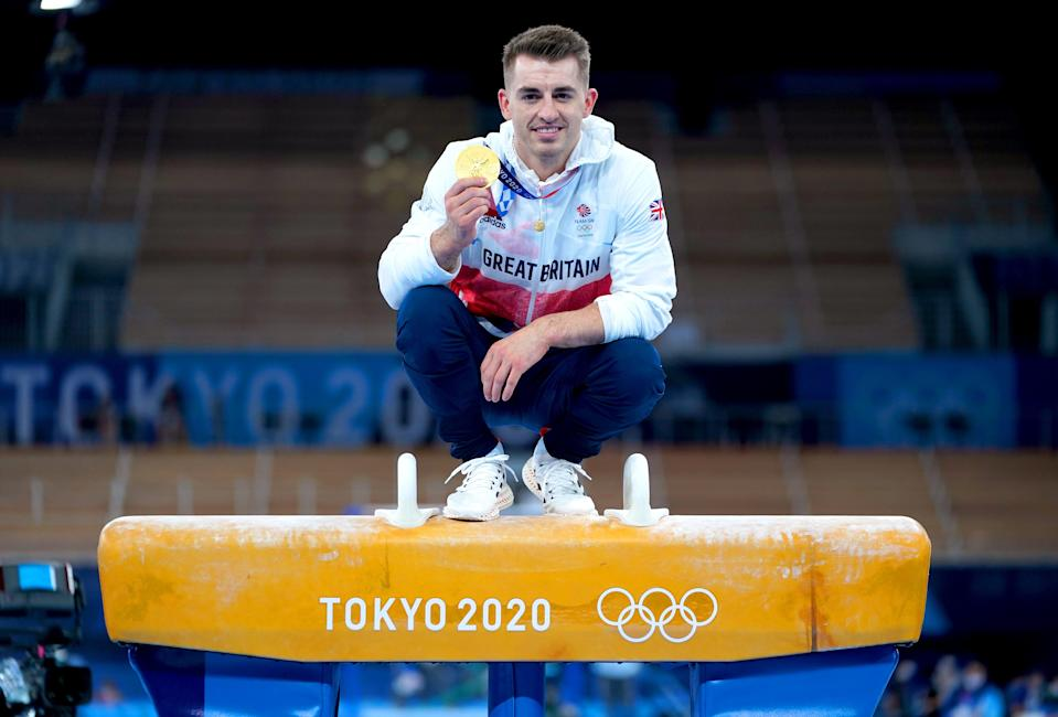 Max Whitlock won pommel gold in Tokyo (Mike Egerton/PA) (PA Wire)