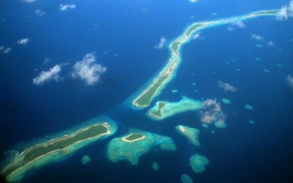 An aerial shot of the Marshall Islands - Rex