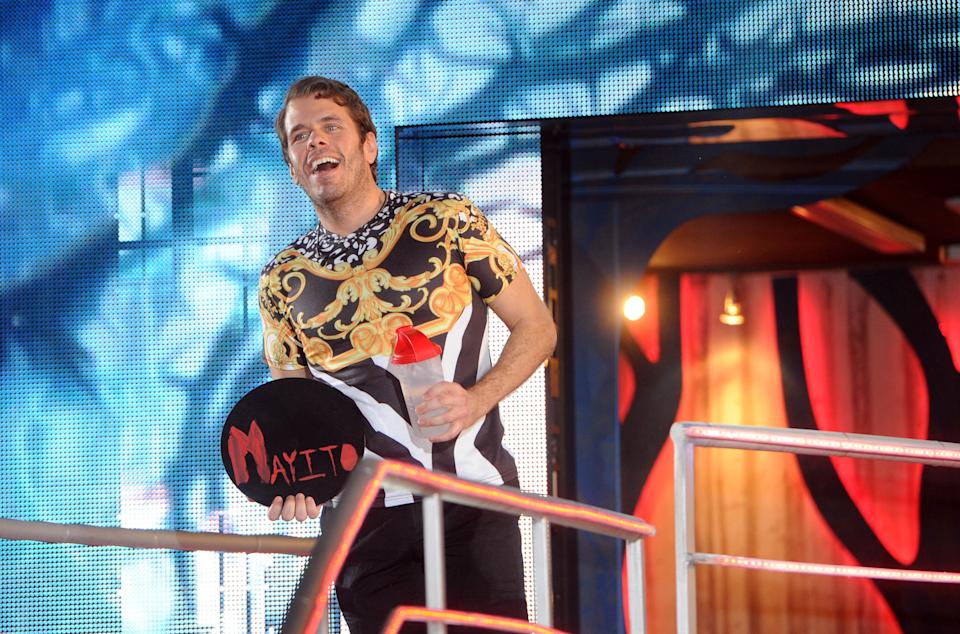 BOREHAMWOOD, ENGLAND - FEBRUARY 04:  Perez Hilton is evicted from the Big Brother house at Elstree Studios on February 4, 2015 in Borehamwood, England.  (Photo by Stuart C. Wilson/Getty Images)