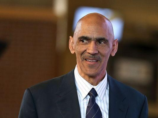 Former Indianapolis Colts head coach Tony Dungy takes the stage to speak about Catchings, during the Tamika Catchings Legacy Luncheon, Tuesday, March 22, 2016, at Banker's Life Fieldhouse.