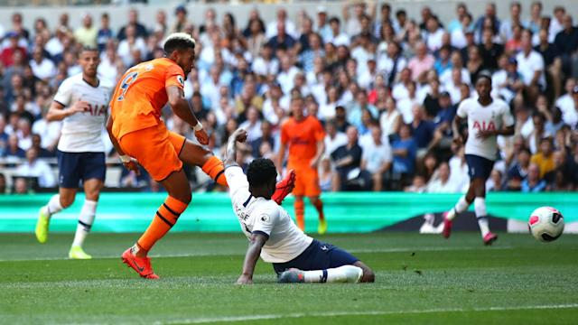 Joelinton's first-half strike proved decisive at Tottenham Hotspur Stadium, as Newcastle clung on for Steve Bruce's first win.