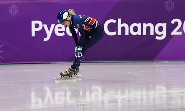 Elise Christie has thanked fans for their support after being disqualified in her final event, the 1,000m, and failing to claim an Olympic medal.