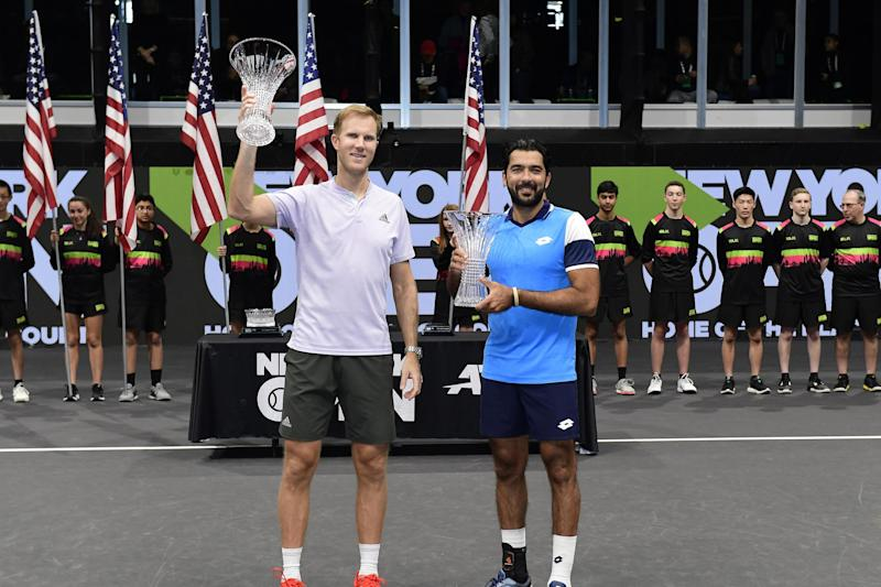 Dom Inglot also triumphed in New York alongside doubles partner Aisam-Ul-Haq Qureshi (Getty Images)