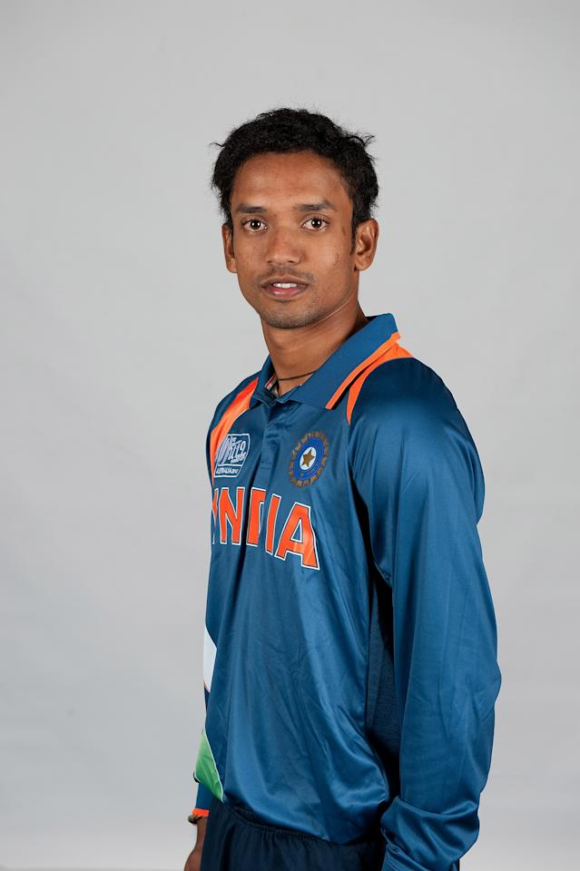 BRISBANE, AUSTRALIA - AUGUST 06:  Sandipan Das of India poses during a ICC U19 Cricket World Cup 2012 portrait session at Allan Border Field on August 6, 2012 in Brisbane, Australia.  (Photo by Matt Roberts-ICC/Getty Images)