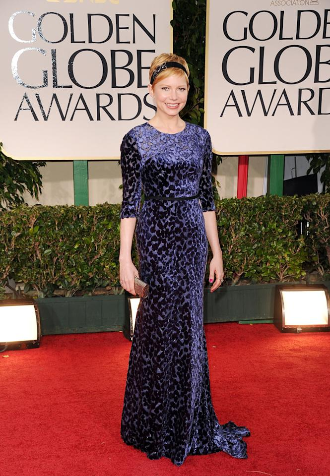 Michelle Williams arrives at the 69th Annual Golden Globe Awards in Beverly Hills, California, on January 15.