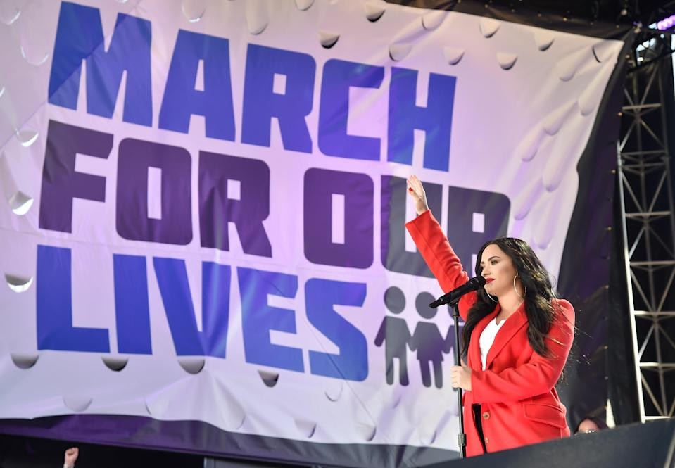 """Demi Lovato's performance of """"Skyscraper"""" at the March For Our Lives was so poignant and it will literally send chills through your body."""