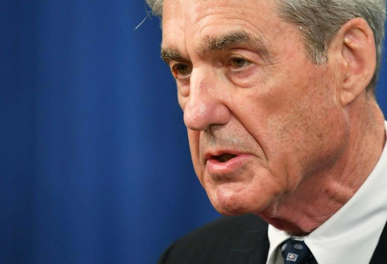 Special Counsel Robert Mueller speaks on the investigation into Russian interference in the 2016 presidential election at the US Justice Department in May 2019