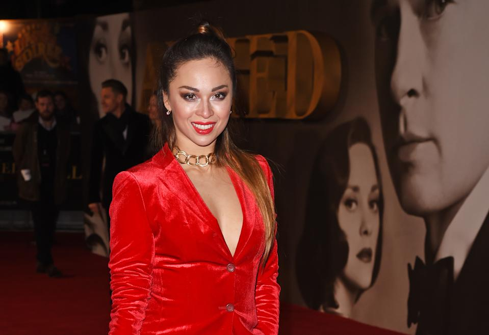 """LONDON, ENGLAND - NOVEMBER 21:  Katya Jones attends the UK Premiere of """"Allied"""" at Odeon Leicester Square on November 21, 2016 in London, England.  (Photo by David M. Benett/Dave Benett/WireImage)"""