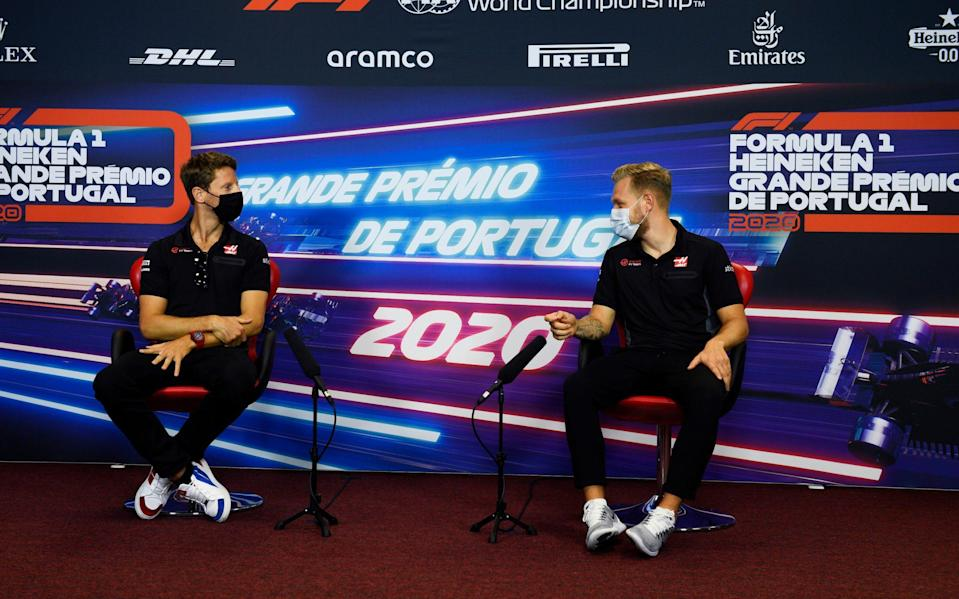 Romain Grosjean and Kevin Magnussen made the announcement ahead of this weekend's grand prix - Getty Images