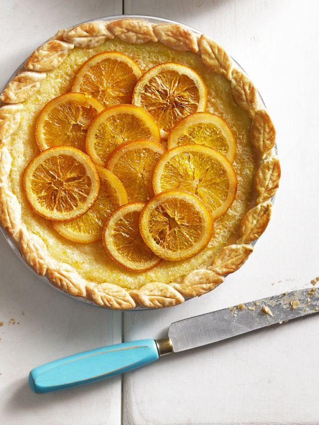 "<p>Candied orange slices and creamy buttermilk come together in this gorgeous pie that's perfect for springtime. </p><p><a href=""https://www.goodhousekeeping.com/food-recipes/a15959/orange-buttermilk-chess-pie-recipe-clx0914/"" rel=""nofollow noopener"" target=""_blank"" data-ylk=""slk:Get the recipe for Orange-Buttermilk Chess Pie »"" class=""link rapid-noclick-resp""><em>Get the recipe for Orange-Buttermilk Chess Pie »</em></a></p>"