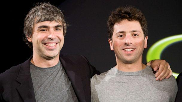 PHOTO: Larry Page and Sergey Brin, the co-founders of Google, appear at a press event in 2008. (James Leynse/Corbis via Getty Images, FILE)