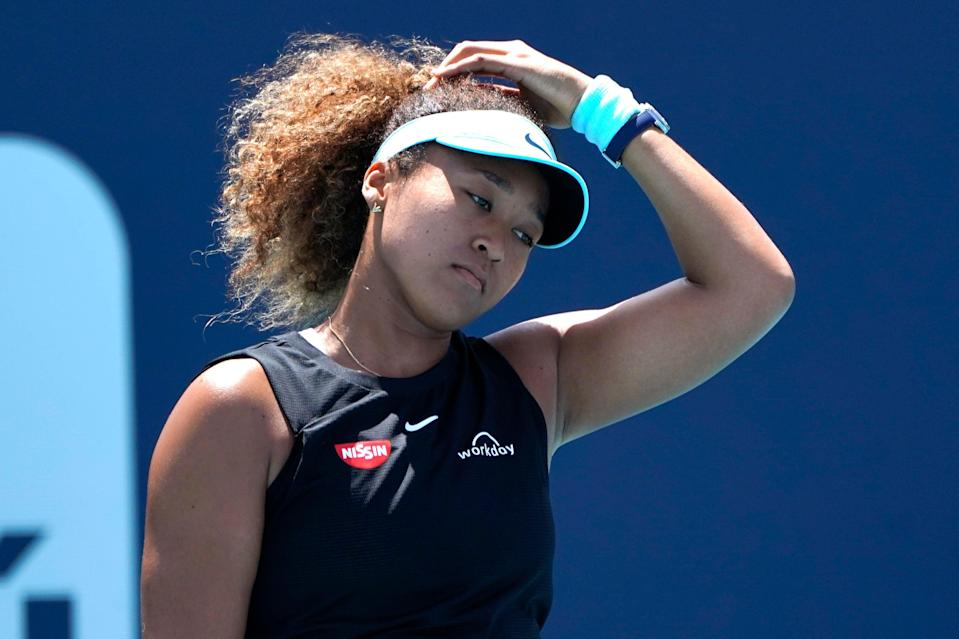 <p>French Open Osaka Tennis</p> (Copyright 2021 The Associated Press. All rights reserved.)