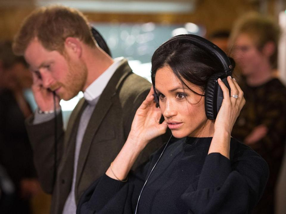 """<p>To mark their second joint royal engagement, Prince Harry and Meghan Markle visited a local radio station in Brixton back in January 2018. For the momentous event, the duchess-in-waiting opted for a bell-sleeved knit by Marks and Spencer. Within a mere two hours, the jumper sold out and has since returned to the Brit label's website in two hues. <a rel=""""nofollow noopener"""" href=""""http://www.marksandspencer.com/wool-blend-round-neck-bell-sleeve-jumper/p/p22511692?partner=awin&utm_source=awin&utm_medium=affiliate&utm_term=86032&utm_campaign=mailonline&awc=3708_1515516297_44766095654e3b64f323f12e276ff662&pdpredirect&source=affwindow&extid=af_a_Content_73846_Telegraph.co.uk&comgp=73846&cvosrc=affiliate.aw.73846&awc=1402_1515681959_e803b908176f5b751c741da4dc6c6170"""" target=""""_blank"""" data-ylk=""""slk:Shop now"""" class=""""link rapid-noclick-resp""""><em>Shop now</em></a>. </p>"""