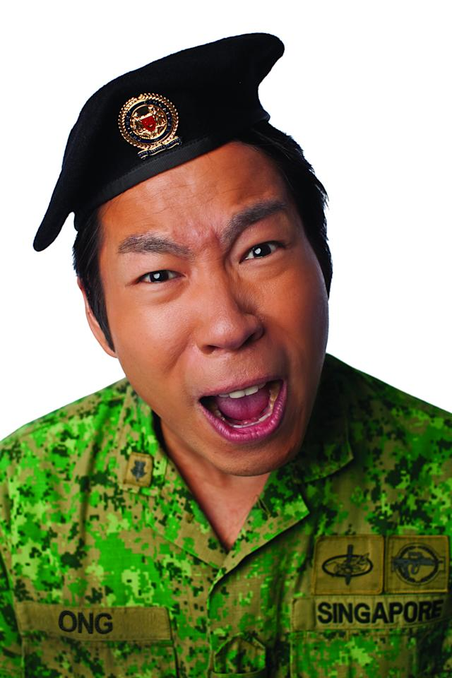 Chua Enlai stars as Cpl Ong in Army Daze: The Production (Photo courtesy of Event Clique)