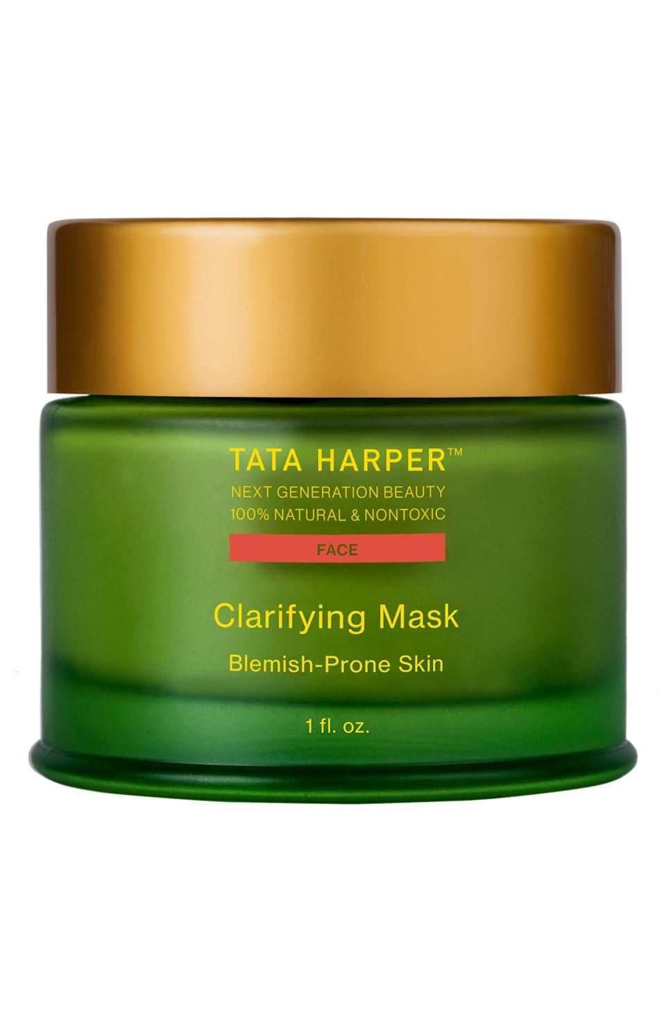 """<h3><strong><a href=""""https://www.tataharperskincare.com/"""" rel=""""nofollow noopener"""" target=""""_blank"""" data-ylk=""""slk:Tata Harper"""" class=""""link rapid-noclick-resp"""">Tata Harper</a></strong></h3><br>As if we needed more reasons to love Tata Harper, sustainability is high on the brand's agenda. Already a cult hit, thanks to its 100% natural ingredients, Tata's eponymous brand is EcoCert certified, meaning everything production-wise — from the imports to distribution — has been evaluated green from start to finish.<br><br>The majority of Tata Harper's luxurious products come in glass bottles. Being composed of natural materials, glass is more efficiently recycled and reused. """"For every 10% increase in recycled glass, CO2 emissions go down 5% – so recycling our (and all) glass packaging is very important for the environment,"""" a spokesperson from the brand says.<br><br>What isn't glass is as sustainable as possible, with plastic resin derived from corn (a renewable alternative to petroleum), and the brand also uses soy-based ink to print (in part due to its low petrochemical content).<br><br><strong>Tata Harper</strong> Clarifying Mask, $, available at <a href=""""https://shop.nordstrom.com/s/tata-harper-skincare-clarifying-mask/4680279"""" rel=""""nofollow noopener"""" target=""""_blank"""" data-ylk=""""slk:Nordstrom"""" class=""""link rapid-noclick-resp"""">Nordstrom</a>"""