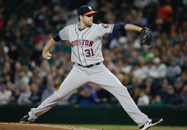 "<a class=""link rapid-noclick-resp"" href=""/mlb/players/9275/"" data-ylk=""slk:Collin McHugh"">Collin McHugh</a> could be a sneaky pickup for the second half (AP)"