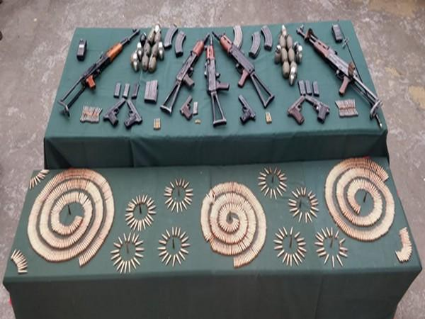 Visual of seized arms and ammunition.