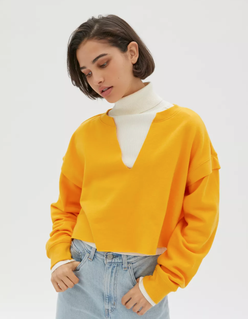 """<h2>Urban Outfitters</h2><br><strong>Sale:</strong> Take an extra 40% off sale<br><strong>Dates:</strong> Now - January 18<br><strong>Promo Code:</strong> None<br><br><em>Shop</em> <strong><em><a href=""""https://www.urbanoutfitters.com/womens-clothing-sale"""" rel=""""nofollow noopener"""" target=""""_blank"""" data-ylk=""""slk:Urban Outfitters"""" class=""""link rapid-noclick-resp"""">Urban Outfitters</a></em></strong><br><br><strong>Urban Outfitters</strong> Clay Notch Neck Cropped Sweatshirt, $, available at <a href=""""https://go.skimresources.com/?id=30283X879131&url=https%3A%2F%2Fwww.urbanoutfitters.com%2Fshop%2Fuo-clay-notch-neck-cropped-sweatshirt2"""" rel=""""nofollow noopener"""" target=""""_blank"""" data-ylk=""""slk:Urban Outfitters"""" class=""""link rapid-noclick-resp"""">Urban Outfitters</a>"""