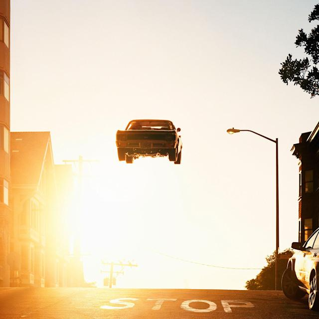 "<p>Noe Valley, 2012/2017. ""When I started this series, I was inspired by the way a car can steal the show. Think of iconic car chases in films — they are often about spectacle, and have little to do with advancing a narrative. Yet the most vivid images are often the ones that we remember.I think of these cars as dead-end technologies, high-performance machines that serve no useful function, and blatantly flaunt their own obsolescence. It seems fitting, then, that they remain suspended, light splashing over their lacquered hoods, reflecting the spirit and attitude of their time.""(© Matthew Porter courtesy Aperture) </p>"