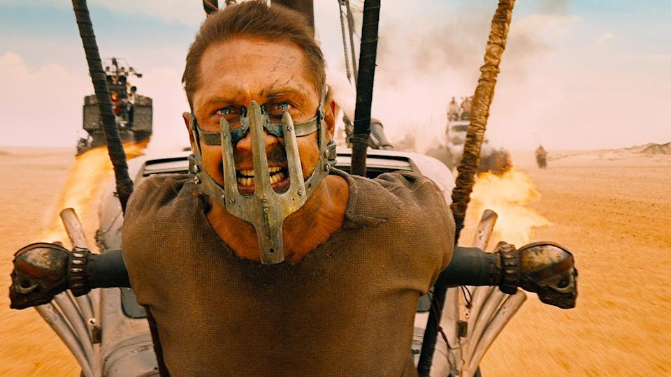 Tom Hardy in George Miller's actioner 'Mad Max: Fury Road'. (Credit: Warner Bros)