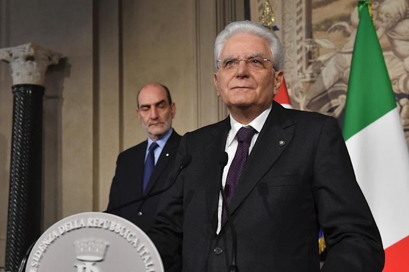 Italian President Sergio Mattarella called on political parties to show 'responsibility' and support the formation of a stop-gap administration