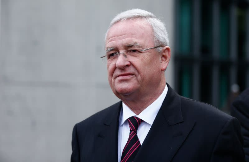 FILE PHOTO: Former Volkswagen CEO Winterkorn leaves after testifying to a parliamentary committee on the carmaker's emissions scandal in Berlin