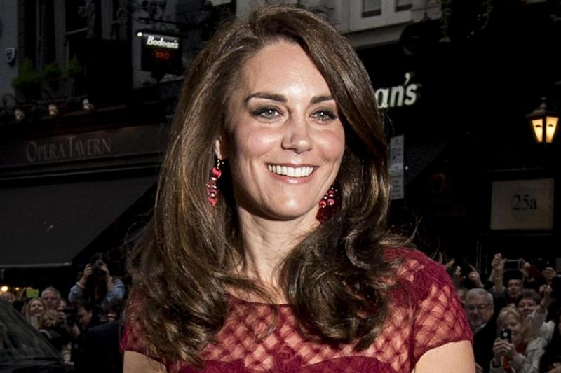 Royal arrival: Kate attends the opening night of West End musical 42nd street (PA)