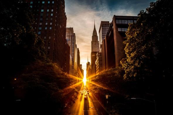 Manhattanhenge from 42nd Street - Getty Images