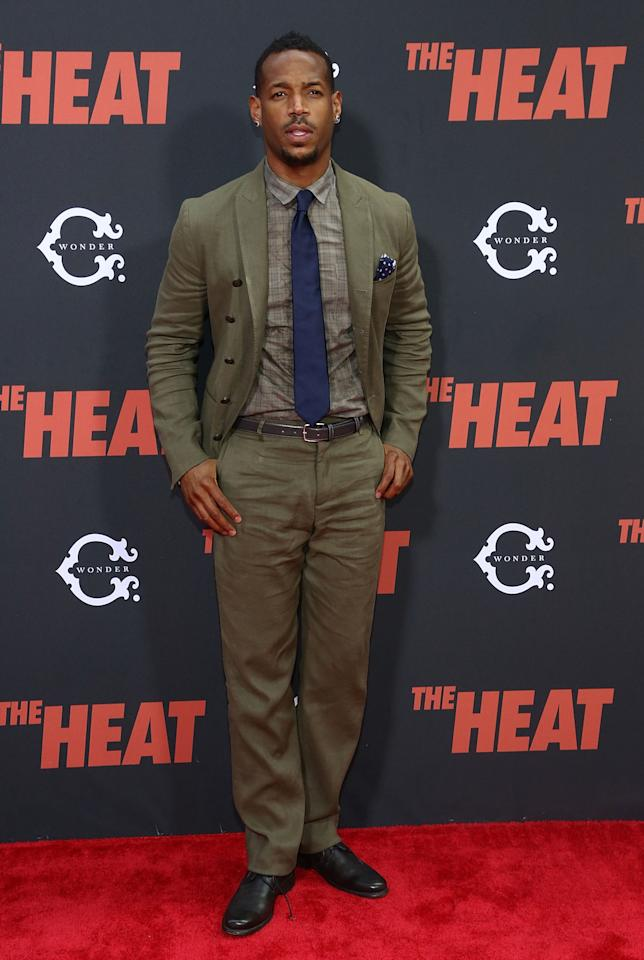 "NEW YORK, NY - JUNE 23: Marlon Wayans attends ""The Heat"" New York Premiere at Ziegfeld Theatre on June 23, 2013 in New York City. (Photo by Astrid Stawiarz/Getty Images)"