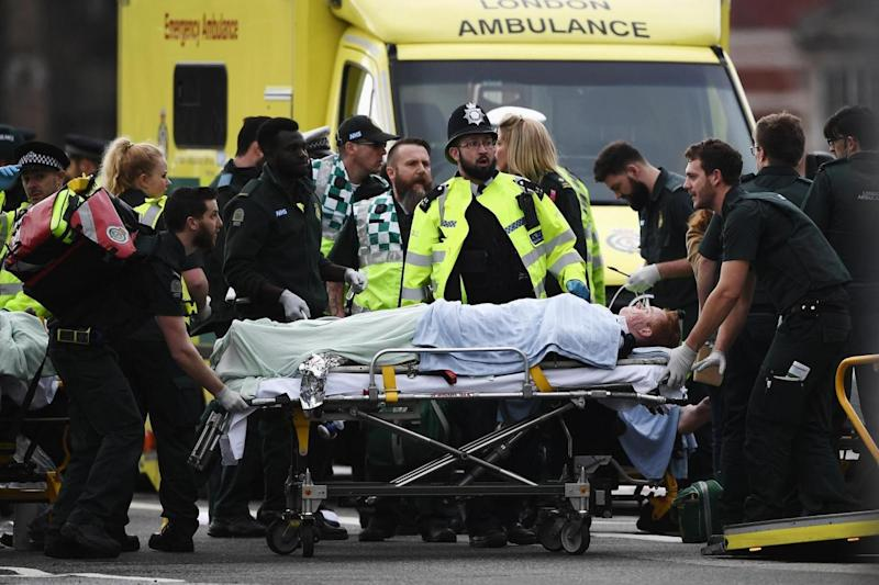 Attack: Travis Frain was hit by the killer's car (Getty Images Europe)