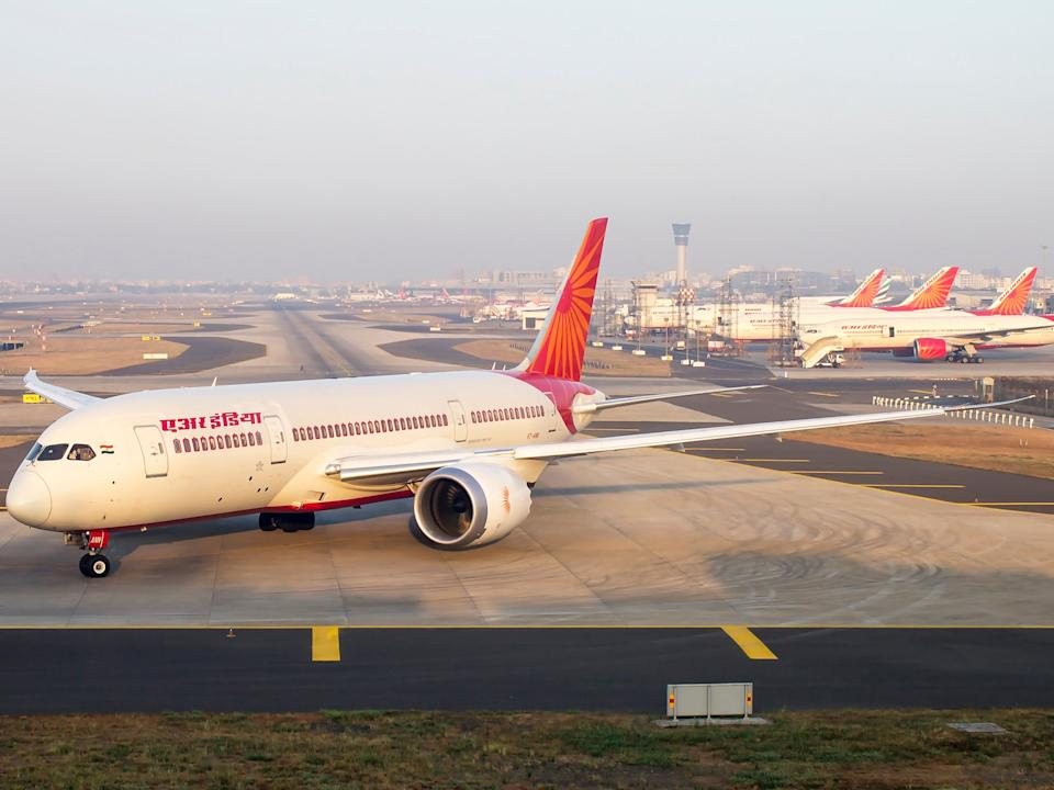Air India 787 Dreamliner and fleet of Boeing 777, 747 in the back: Getty