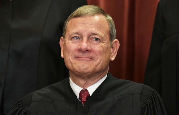 PHOTO: Chief Justice John Roberts poses for the official group photo at the US Supreme Court in Washington, Nov. 30, 2018. (Mandel Ngan/AFP/Getty Images, FILE)