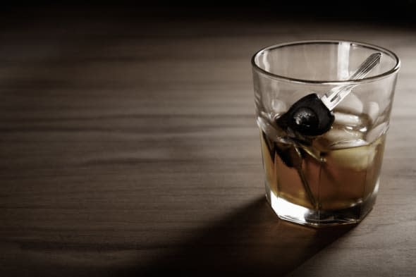 Drink driving whiskey with copy space.
