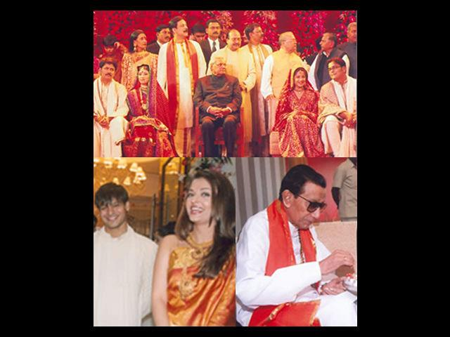 Well known and high profile Indians such as Amitabh Bachchan, Mulayam Singh Yadav, Anil Ambani, and Aishwarya Rai were present to welcome the wedding guests. On the auspicious occasion of the wedding of both his sons, Subrata Roy got 101 under privileged girls married. Along with this, food was distributed to close to about one and a half lakh beggars. The wedding was attended by the who's who of the country. Even the Shiv Sena chief, late Shri Bal Thackeray was present at the event.
