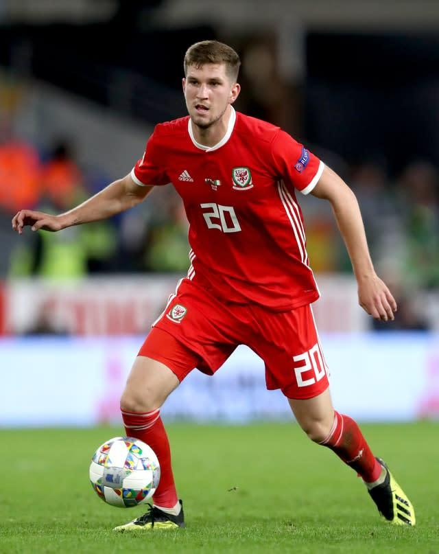Wales' Chris Mepham has made 10 appearances for his country. (David Davies/PA)