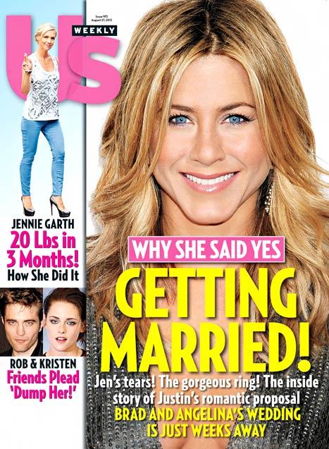 "Jennifer Aniston ""Cried"" When Justin Theroux Proposed in NYC"