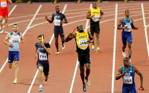 The moment Usain Bolt's hamstring goes - Credit: REUTERS