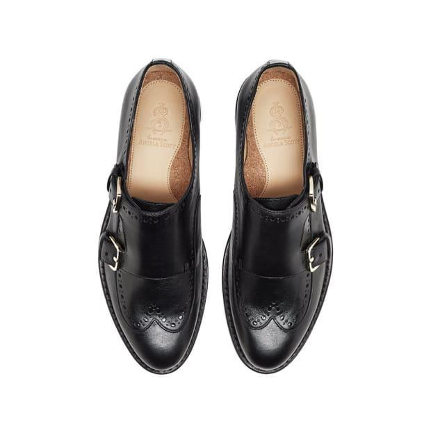 """<p>The Office of Angela Scott Mr. York Shoes, $525, <a href=""""https://theofficeofangelascott.com/products/mr-york-black-on-black?_pos=8&_sid=ecec13908&_ss=r"""" rel=""""nofollow noopener"""" target=""""_blank"""" data-ylk=""""slk:available here"""" class=""""link rapid-noclick-resp"""">available here</a>.</p>"""
