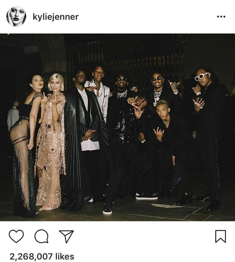 Kylie posted this Met Gala photo first. Source: Instagram
