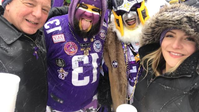 Scott and Megan Mullen left the Vikings game early. (Megan Mullen photo)