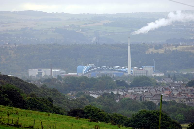 General view of the Galpharm (formerly McAlpine) Stadium, home of Huddersfield Town FC.