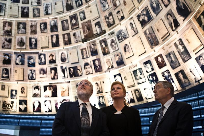 """""""We strongly urge you to remove books that deny, distort and trivialise the Holocaust from your store,"""" Robert Rozett (L), director of the Yad Vashem libraries, wrote in a letter to Jeff Bezos seen by AFP"""