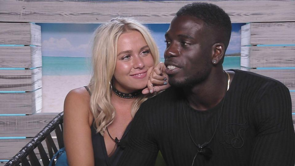 Gabby and Marcel in the luxury villa (ITV2)