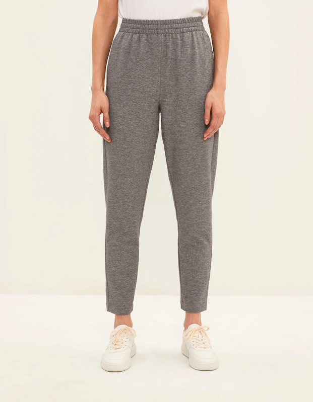 """If you're the type to pull yourself together while working from home, consider these slim sweatpants that are also suitable for the office. They're moisture wicking and have a hidden pocket inside the waistband to hold cards if you're running out for fresh air. $69.5, Frank and Oak. <a href=""""https://www.frankandoak.com/product/2210304-1BZ/the-hybrid-pant-in-grey"""" rel=""""nofollow noopener"""" target=""""_blank"""" data-ylk=""""slk:Get it now!"""" class=""""link rapid-noclick-resp"""">Get it now!</a>"""
