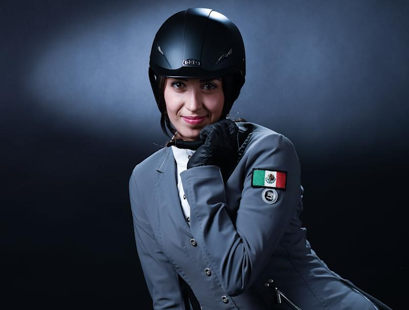 Mexican Modern Pentathlon Team member Mariana Arceo poses for a photo, in Mexico City, on November 17, 2019. - Arceo is one of the Mexican athletes that will participate at the Japan 2020 Olympics Games. (Photo by Omar TORRES / AFP) (Photo by OMAR TORRES/AFP via Getty Images)