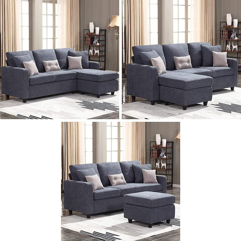 <p>The design of the <span>Honbay Convertible Sectional Sofa</span> ($300, originally $330) is so smart. You can switch the chaise side or even use it as an ottoman.</p>