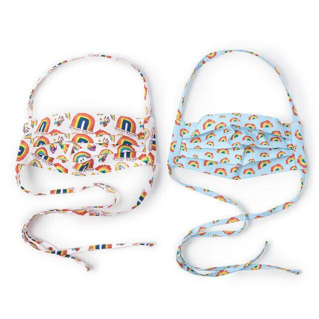 "All of the profits from Uncommon Goods' ""<a href=""https://fave.co/2EMdai6"" target=""_blank"" rel=""noopener noreferrer"">Rainbow Face Masks</a>"" will be donated to <a href=""https://www.nychealthandhospitals.org/about-nyc-health-hospitals/"" target=""_blank"" rel=""noopener noreferrer"">NYC Health + Hospitals</a>, the largest public health care system in the country. These reuseable rainbow masks are made of cotton and designed by kids and have little labels on them with messages like ""keep smiling."" So you'll be doing your part to stop the spread by getting a mask and giving back to health care workers who are helping patients during this pandemic. <br /><br /><a href=""https://fave.co/2EMdai6"" target=""_blank"" rel=""noopener noreferrer"">Check out Uncommon Goods' set of two masks for $25</a>."