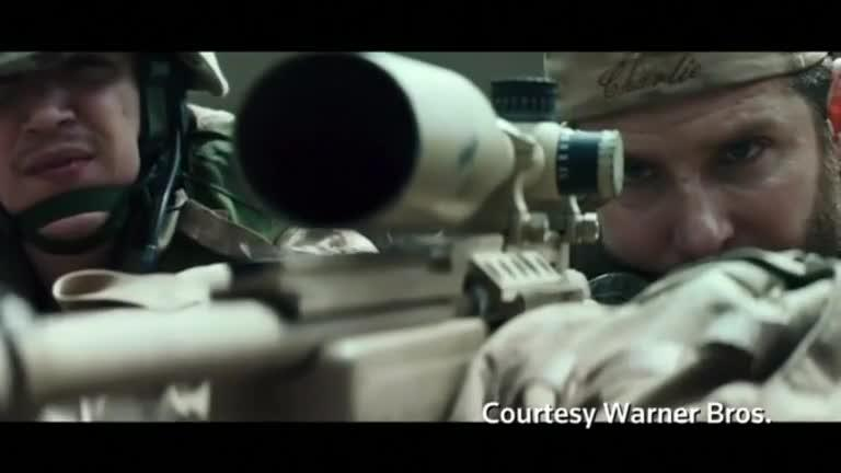 Oscar-nominated war film 'American Sniper' led U.S. and Canadian box office charts over the weekend with a record-setting $90.2 million in ticket sales. Linda So reports. Credit to Reuters.